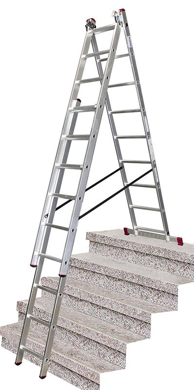 drabina aluminiowa krause corda na schody 3x9 013392 drabiny krause rusztowania aluminiowe. Black Bedroom Furniture Sets. Home Design Ideas
